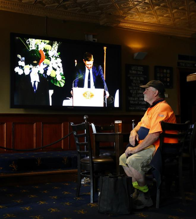 Phillip Hughes funeral Macksville  Michael Clarke farewell my little brother Young & Jacksons pub Melb @theheraldsun http://t.co/2lbjWiFO0i