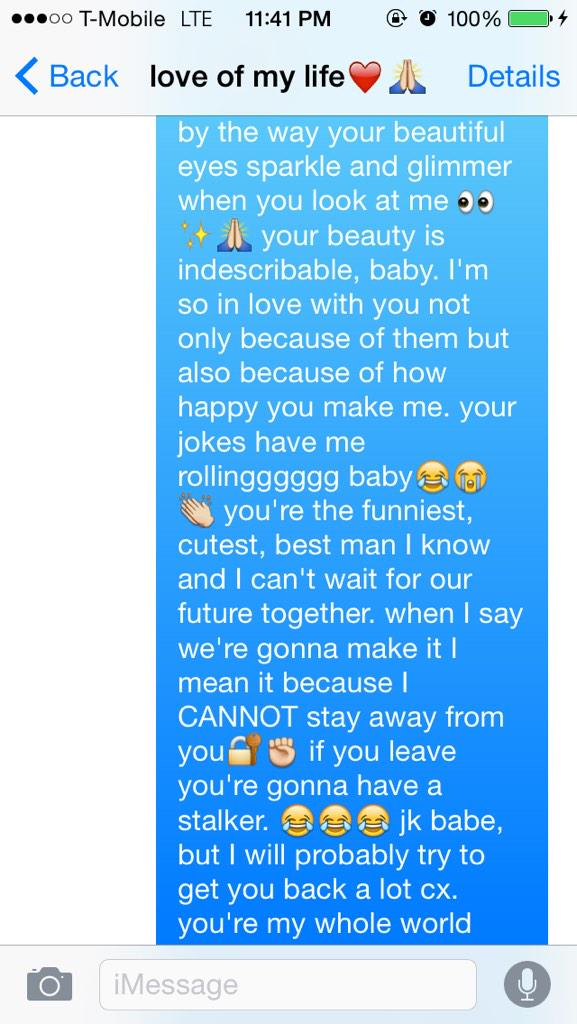 Messages for him to wake up to
