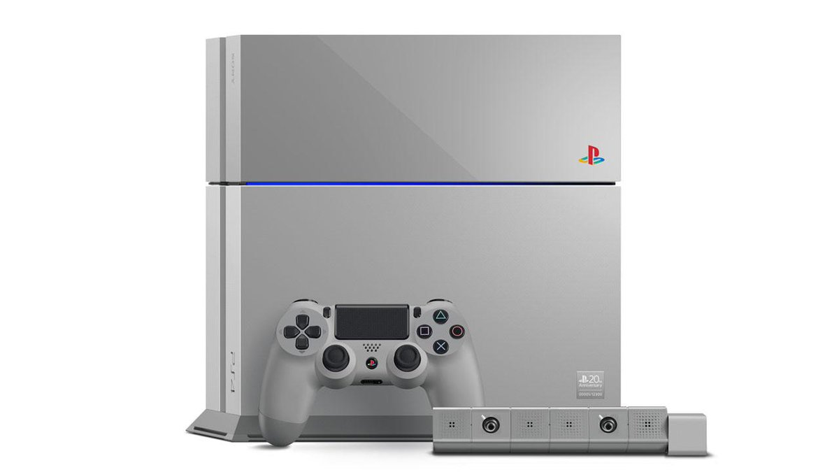 Sony is releasing a PS1-themed PlayStation 4 to celebrate the console's 20th anniversary: http://t.co/6VEg9WT4BY http://t.co/9OjIl53h5g