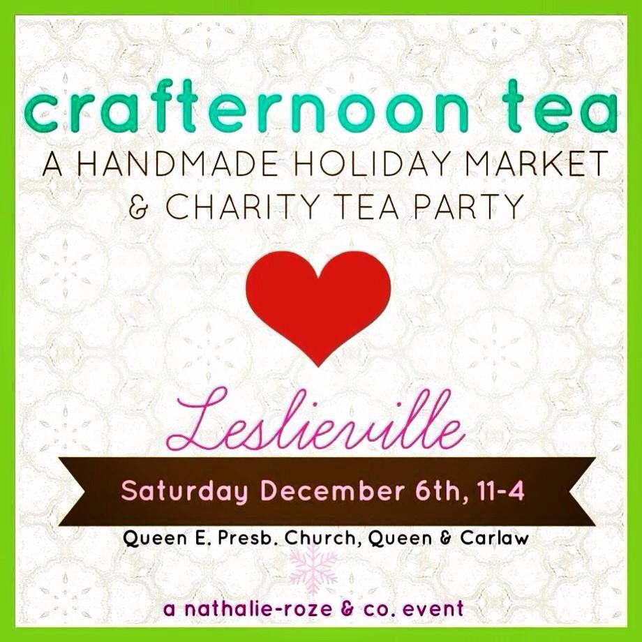 Shop local, support Nellies and enjoy fabulous tea and treats this Saturday at @NRandCo Crafternoon Tea #Leslieville http://t.co/YgfkEIKFCr
