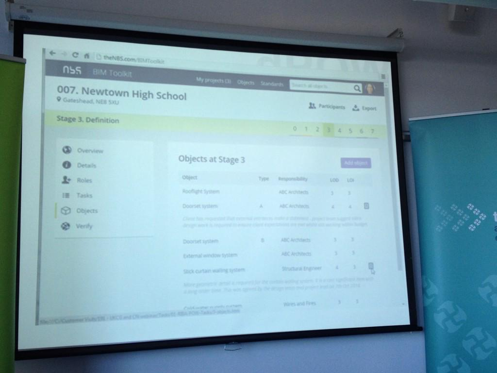 #BIMtoolkit preview shown by @richardlane - looking very useful #greenbim @TheNBS #bim #UKBIMCrew http://t.co/WmLNBu7g2C