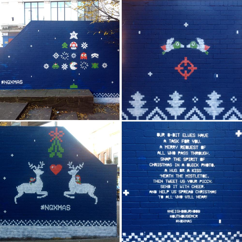 Our Christmas Gift to Manchester is finished!! Hope you like it :) Tweet us your photos using #NQXmas @outhousemcr http://t.co/993b0rsvVU