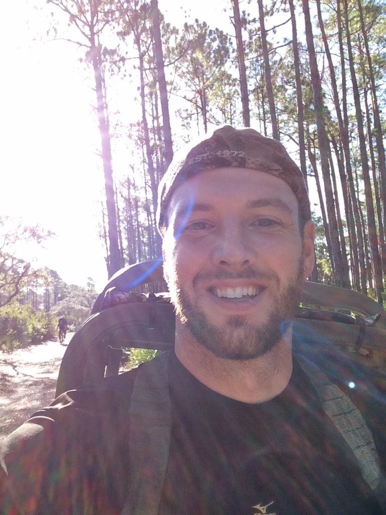 On my bike headed to set up my tree stand. St Vincent island sambar hunt. Wish me luck. #sambar #stvincent #hunting http://t.co/3b8fi1q0pN