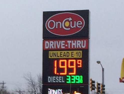 It's official...gas is under $2 in Oklahoma! http://t.co/vn1hnbQXpK http://t.co/hMv0m2U88U