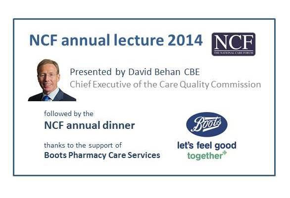 Thanks once again to David Behan @CareQualityComm for presenting NCF annual lecture and all contributing to #ncf14