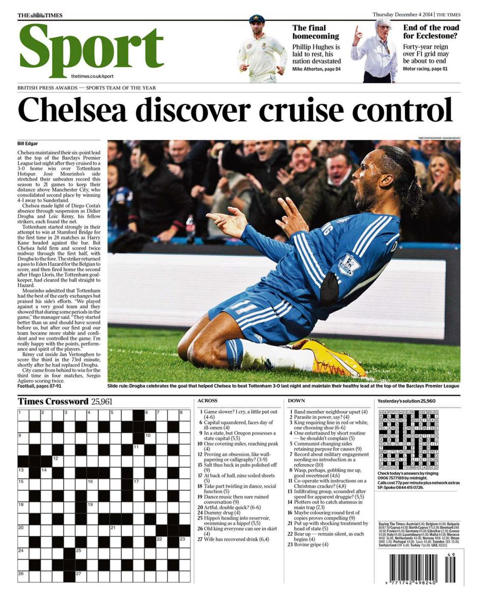 Portada del Times del 4 de Diciembre