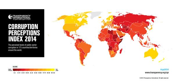 .#Corruption #Perceptions #Index2014 is now LIVE.#Denmark is 1st out of 175 countries http://t.co/bhvnWZAmEB #CPI2014 http://t.co/LB2JdcvyqP