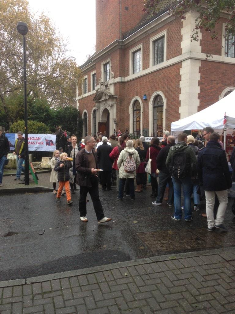 Queues outside the Norwegian Church for the Christmas Bazaar