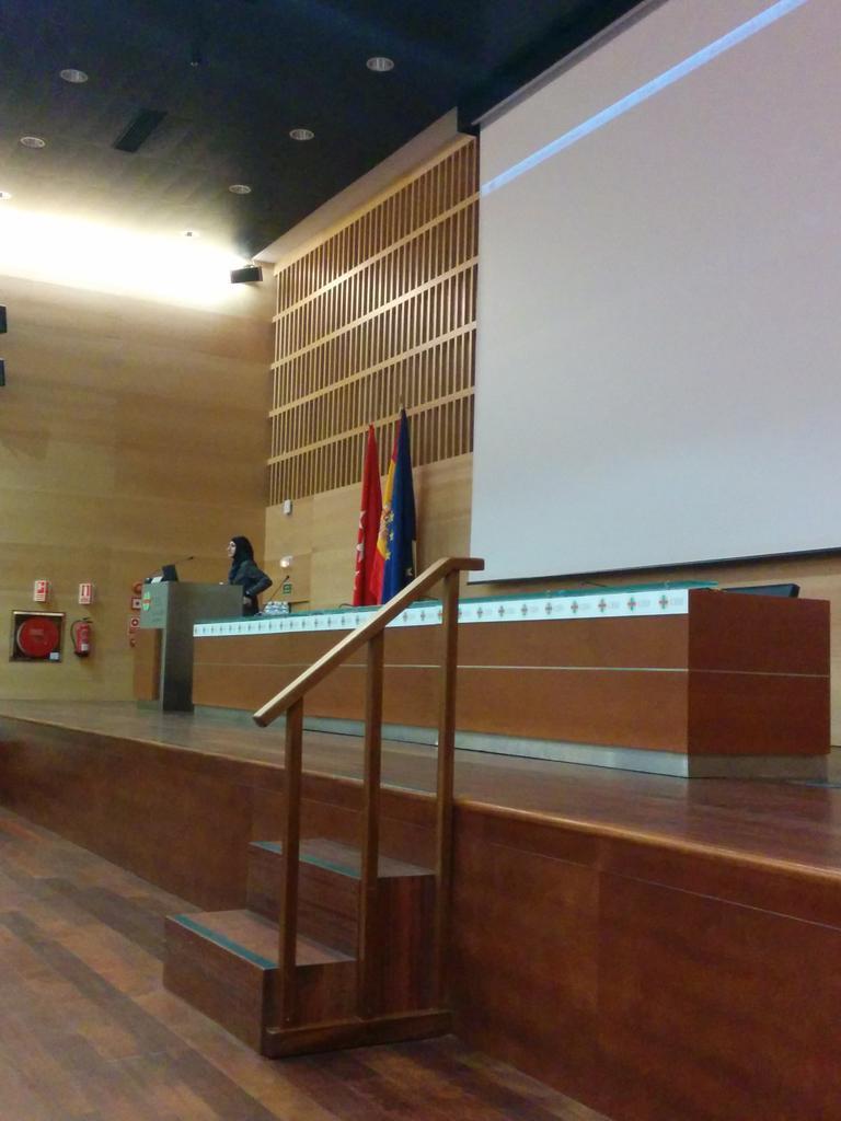A puntito de empezar la charla de @SaraSoueidan sobre SVG en track 1 #codemotion_es http://t.co/jzefBDyxlM