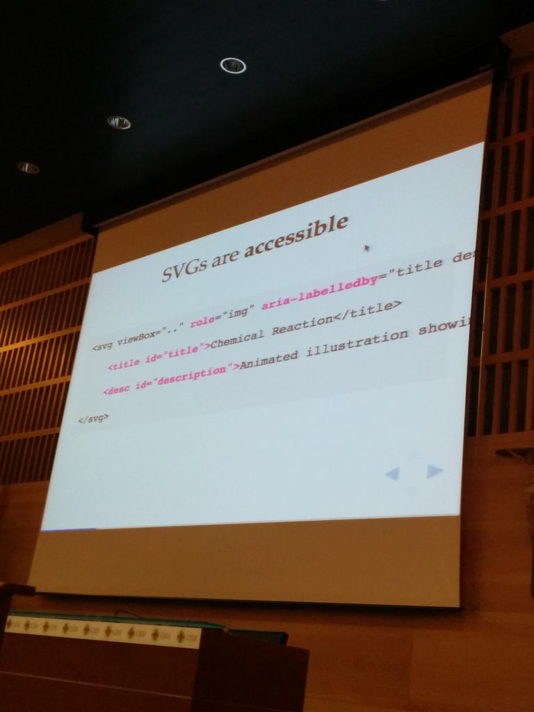 SVGs are accessible by @SaraSoueidan #codemotion_es http://t.co/ZKNGQy3Ohy