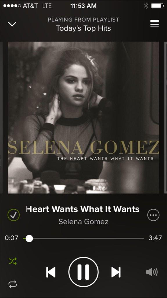 On repeat : #SelenaGomez http://t.co/2SVG0FPWic