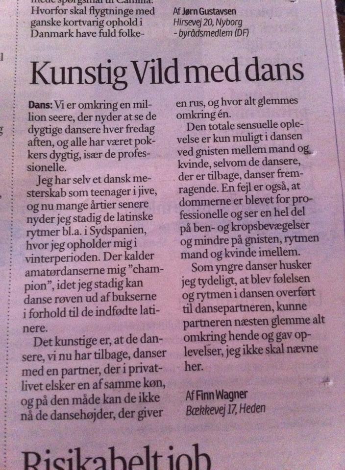 Vild med Dans-læserbrev i Fyens Stiftstidende. Tænk over den TV2! #presseklip #dkmedier http://t.co/rZkCBDBReb