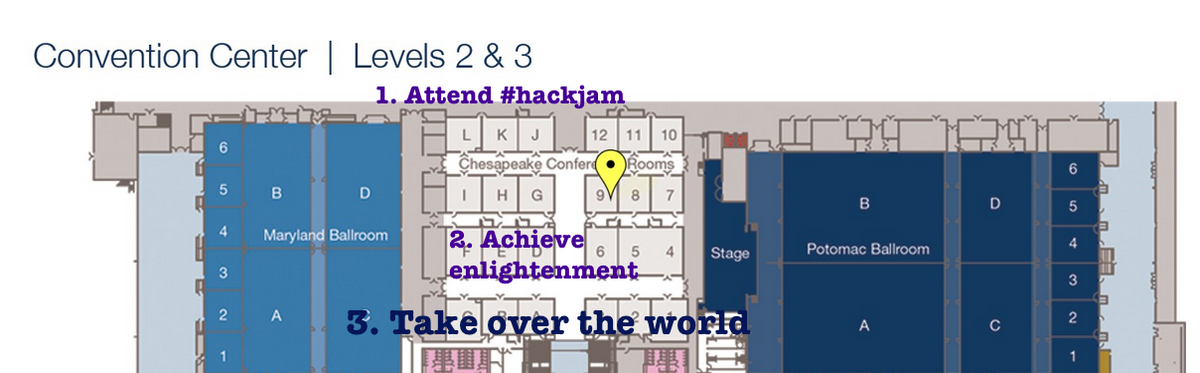 Plan for #Hackjam our landscapes of knowing #ncte14 9:30 G37 @AndreaZellner @chadsansing @Seecantrill #nwp http://t.co/0h0ypNYJEJ