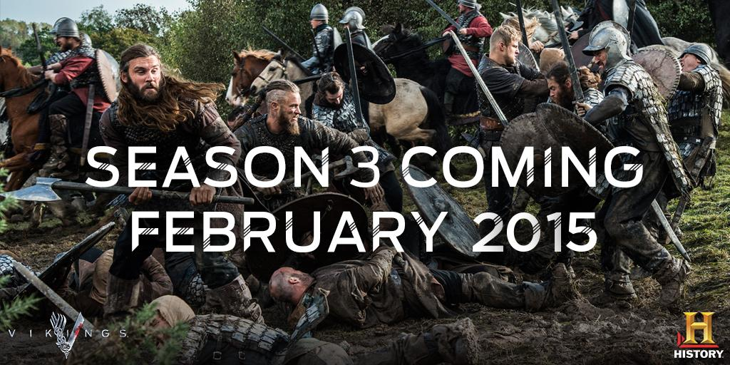 RT @HistoryVikings: You've been warned...#Vikings are raiding your screens February 2015! http://t.co/0EZzsDKHcg