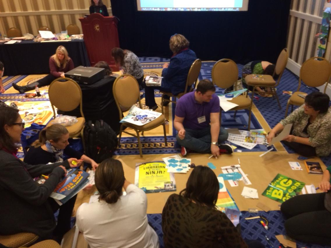 #hackjam #ncte14 repurposing the exhibit hall http://t.co/qUmrKu1VVE