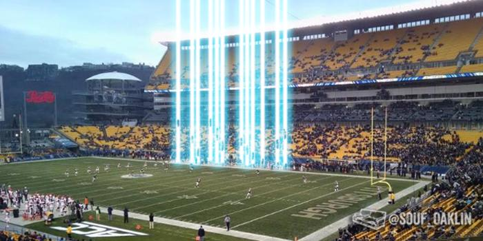 Breaking: Deciding they have suffered enough, God interrupts Pitt game to allow seniors to ascend directly to heaven. http://t.co/Z6Sv9K4o9R