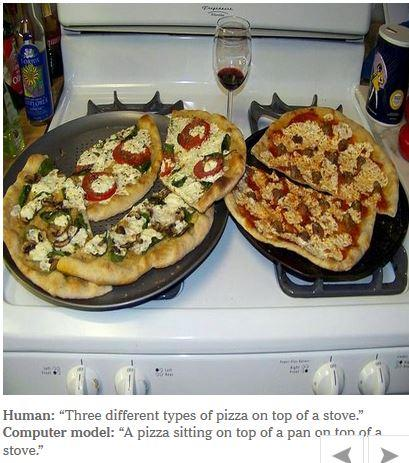Computer caption, automatically generated: A pizza sitting on top of a pan, on top of a stove
