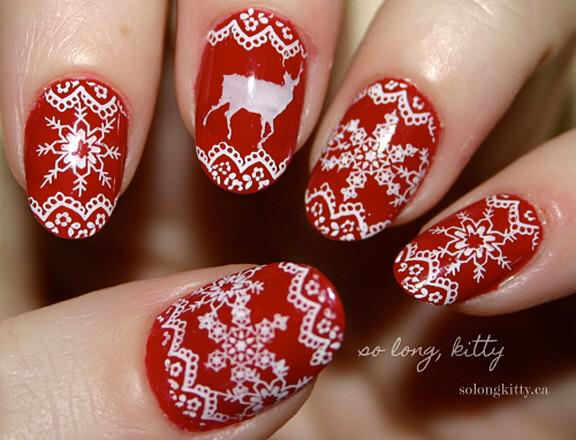 Ugly sweater nail art!