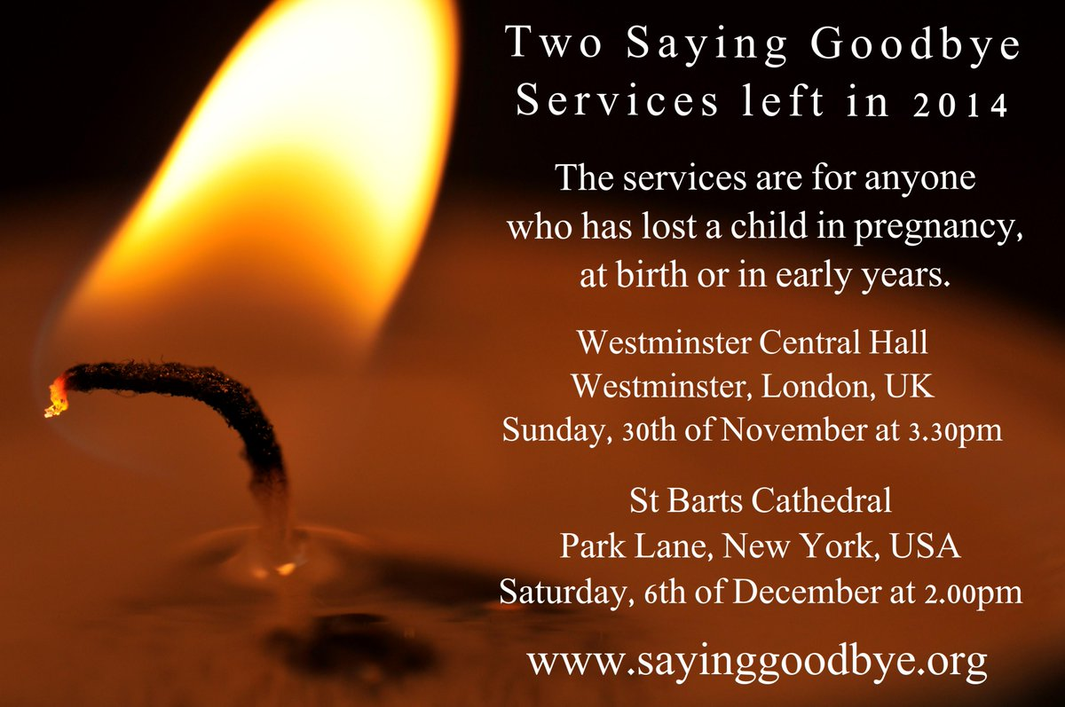 Only 2 more @SayingGoodbyeUK services to go in 2014  - London and New York - All welcome, please RT http://t.co/kCfnVHHqH8 #London #NewYork