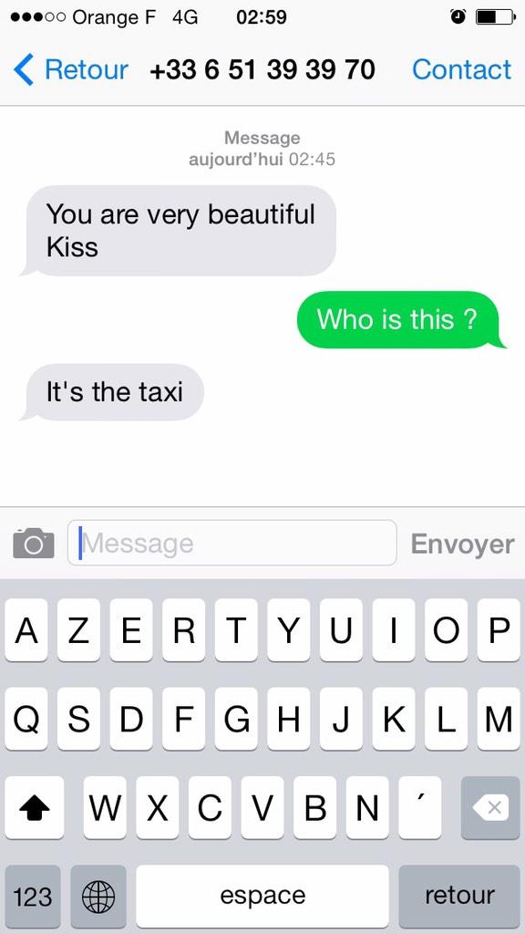 My friend living in Paris just got this from her @Uber driver. http://t.co/wSl8Y5rGwF