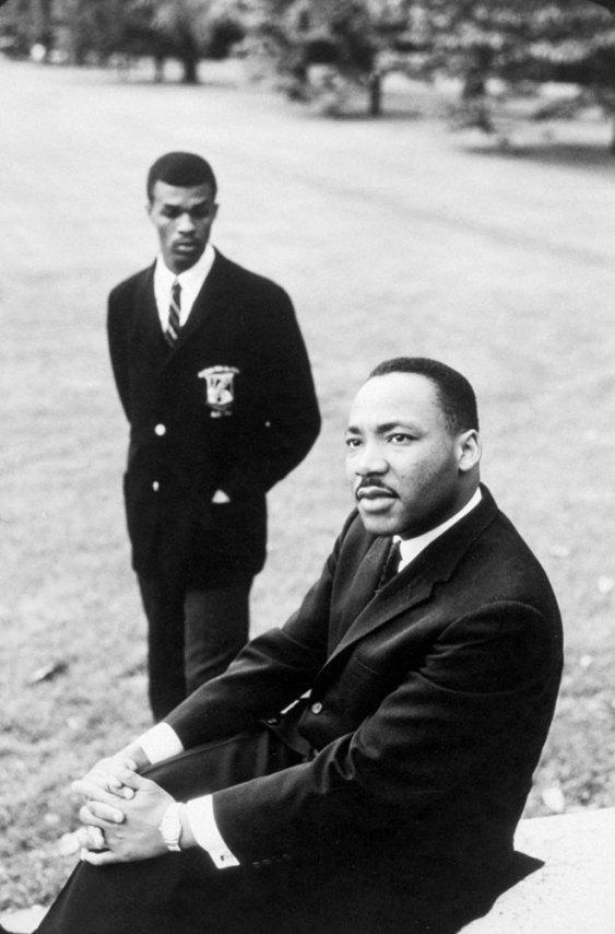 Future Mayor Barry with Dr. King http://t.co/3A2CcnK5dD