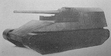 試製新砲戦車(甲) ホリ 通称は五式砲戦車。独ソ戦で虎やら豹が大暴れしてる現状を見た陸軍が対戦車用に105mm長砲身砲を用意しなきゃ(使命感)と開発した。でも間に合わなかったし、実際の日本軍は47mm砲で最後まで対戦車戦闘しました。