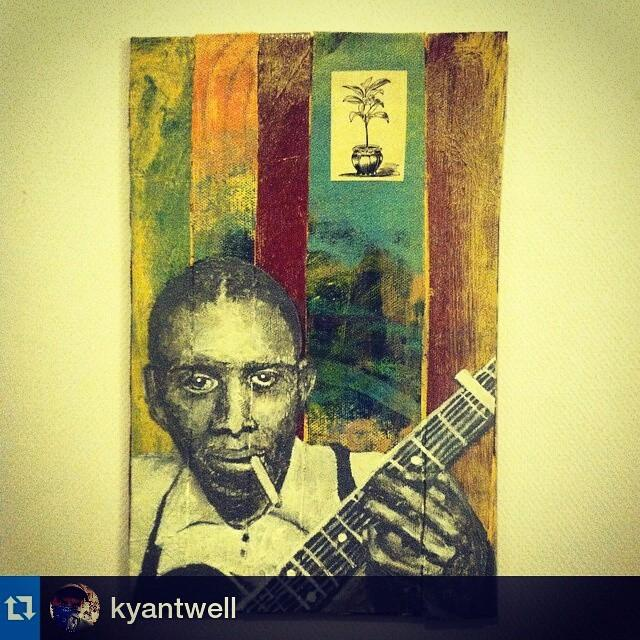 #Repost @kyantwell ・・・ Robert Johnson with a house plant. #acrylic #painting #austinart ... http://t.co/Z2NuJ1mzwr http://t.co/dGJ3LjDjKB