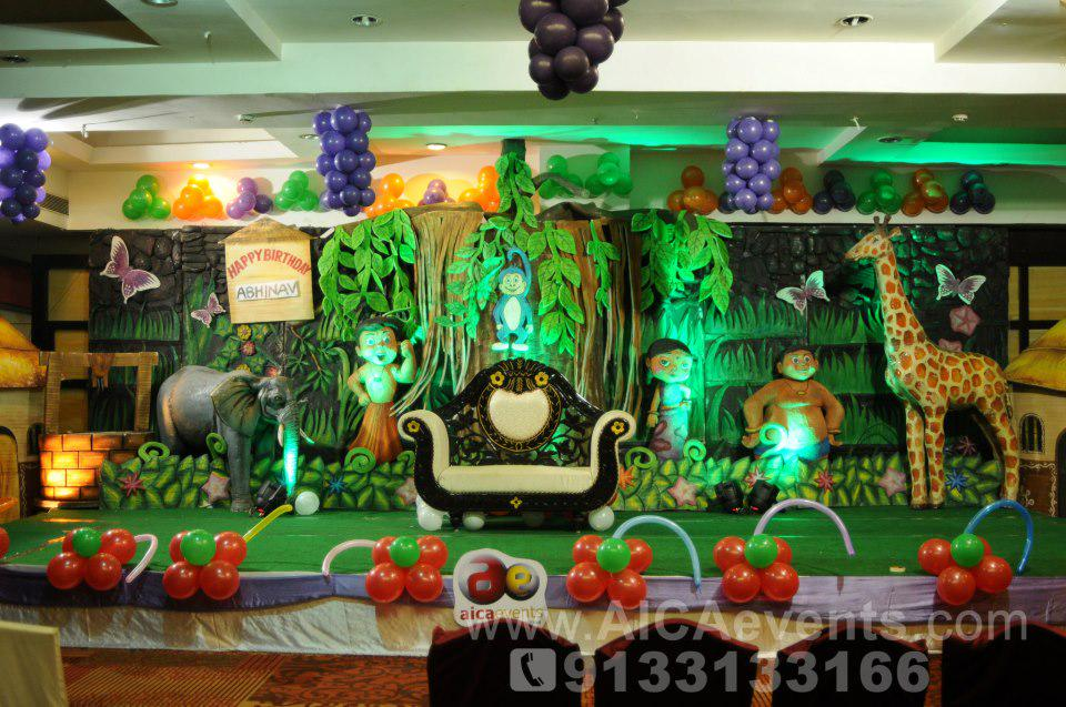 Aica Events On Twitter Chota Bheem Theme Birthday Decorations