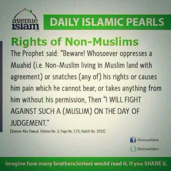 The rights of non Muslims according to Prophet Muhammad (PBUH). http://t.co/fZIOC8qhsh