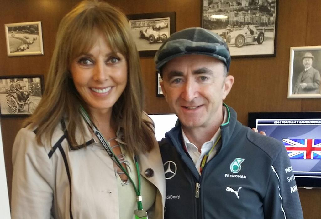 With friend and now #F1 @MercedesAMGF1 legend @paddylowe.... Both read engineering at same college #Cambridge x http://t.co/jHWUAUGZZ5