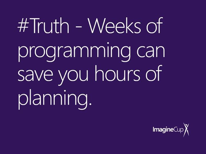 Weeks of programming can save you hours of planning http://t.co/yD5vKNtaKJ