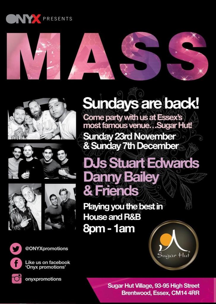 RT @darren_manning: Tonight is the night! MASS @sugarhut arrive early looking rammo! 8pm-1am @matthale92 @sonneychin http://t.co/PnR8TTp1aP