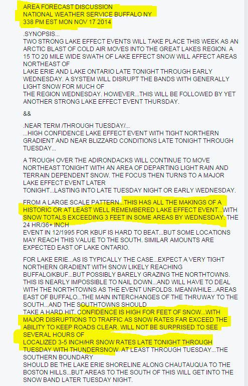 """Hey @NYGovCuomo, you're saying @NWSBuffalo """"missed"""" the forecast on the #LakeEffect #Snow?  You are incredibly wrong http://t.co/fLrG2oFTbe"""