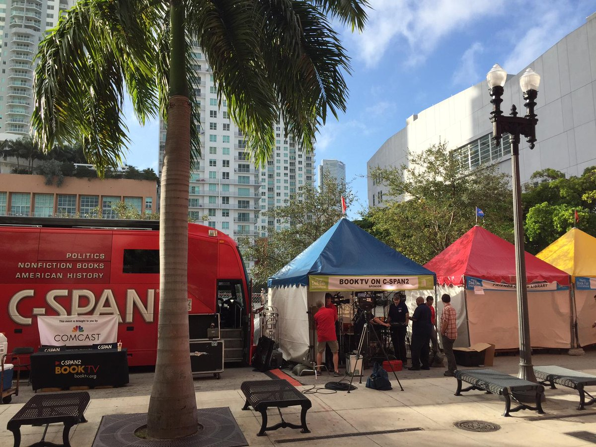 DAY 2 of @BookTV's LIVE coverage of the @MiamiBookFair goes from 10am until 5:30pm ET on @cspan 2 http://t.co/KOHXAL6TbE