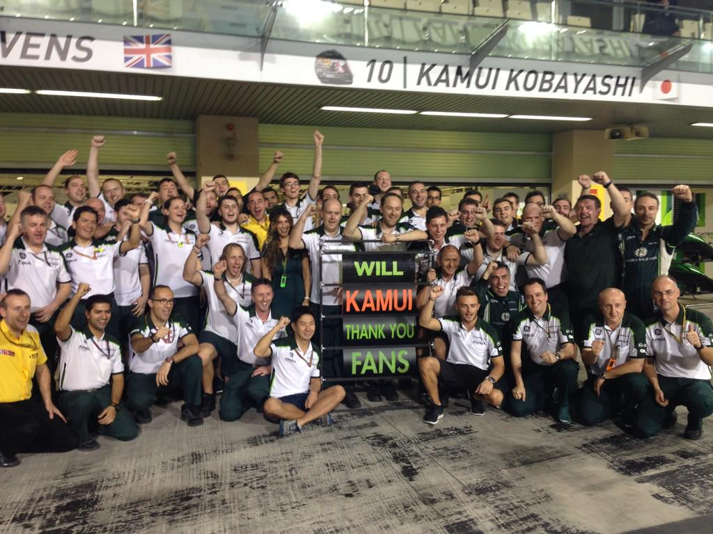 THANK YOU everyone. With love, @CaterhamF1 http://t.co/cjnR3i7DkR