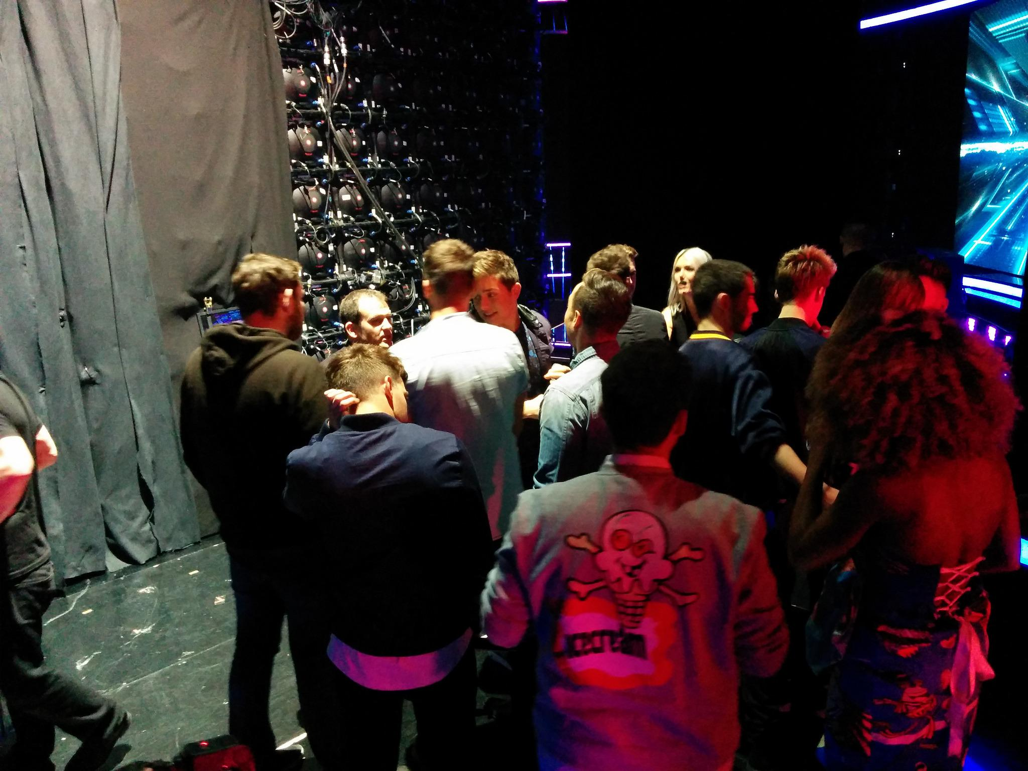 It's all getting very tense backstage...   Lines/app votes are now closed.  #XFactorResults = COMING UP...😱 http://t.co/RzQWBXrXmE