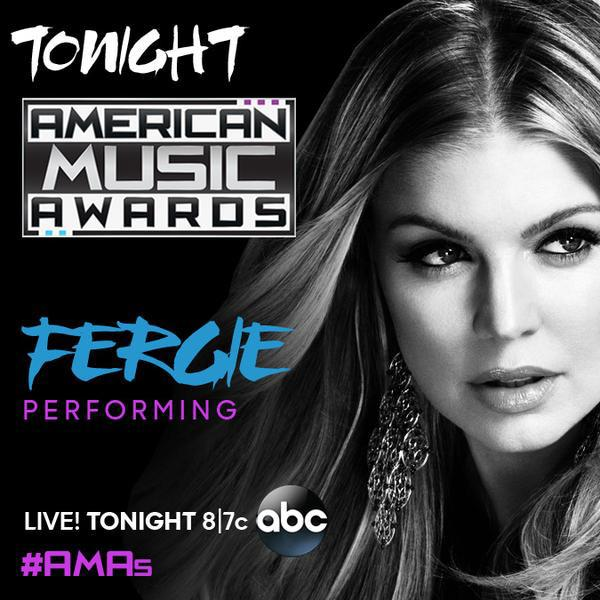 Tonight on @ABCNetwork @Fergie will be performing #LALOVE for the first time on the #AMAs starting at 8/7c. http://t.co/nVCAbKiljo