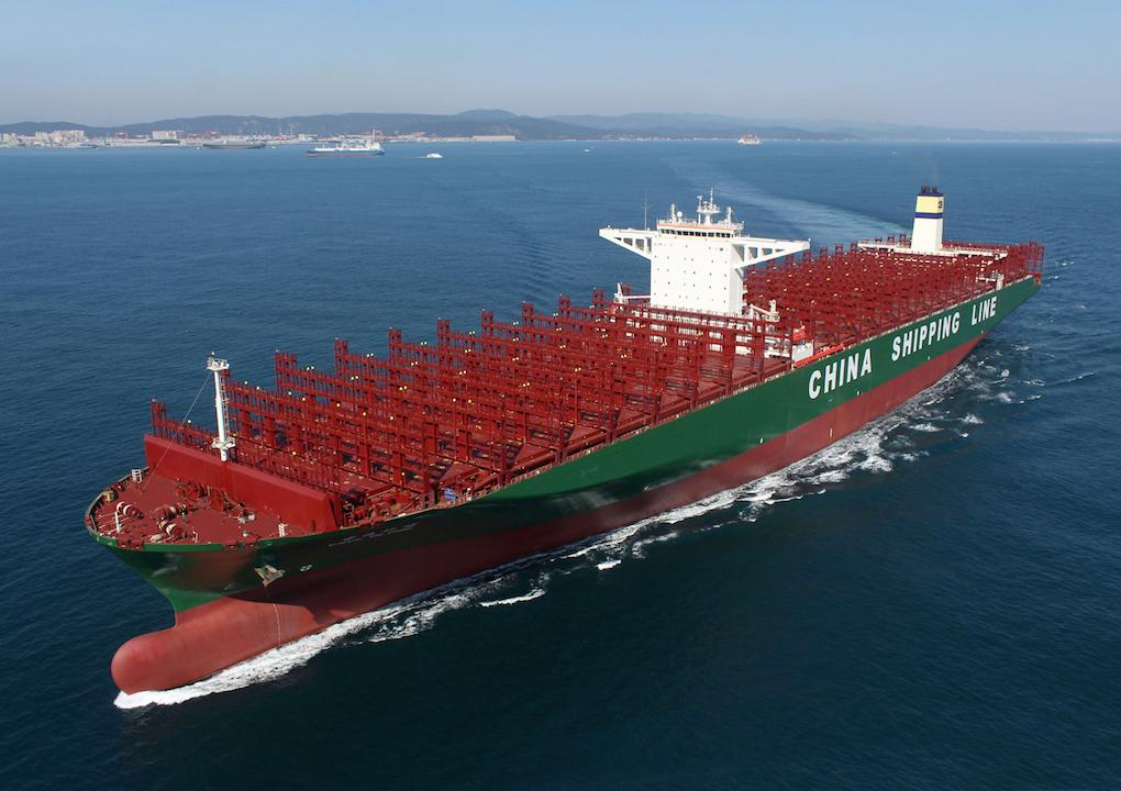 The new world's biggest containership can hold 1,000 more boxes than the Triple-E: http://t.co/G4PCfpw0Kz http://t.co/p5ZvCHGl9U