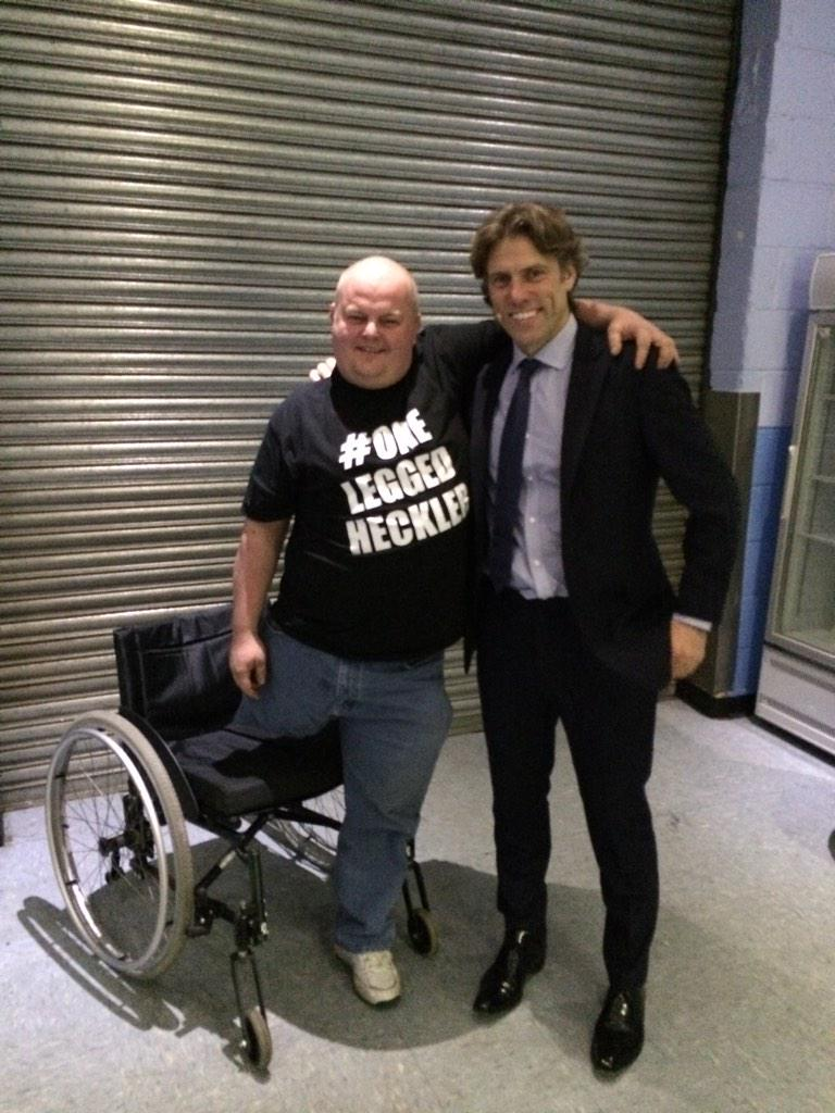 For those who have seen my show here he is for real - Middlesborough's Famous One Leg Heckler 😃 http://t.co/5X5cxSmoVT
