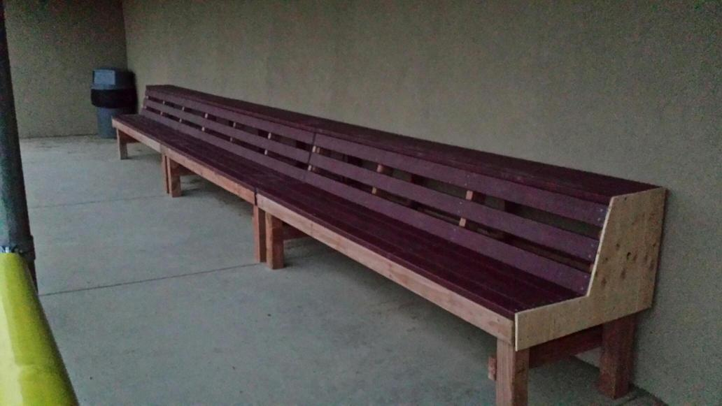 Tim Cardenas On Twitter Put In Work This Weekend Building The Dugout Benches Feel Blessed To