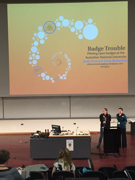 Hey @thesiswhisperer, the #insignia girls are on! #openbadges #ascilite2014 http://t.co/eoGrxZrkmn