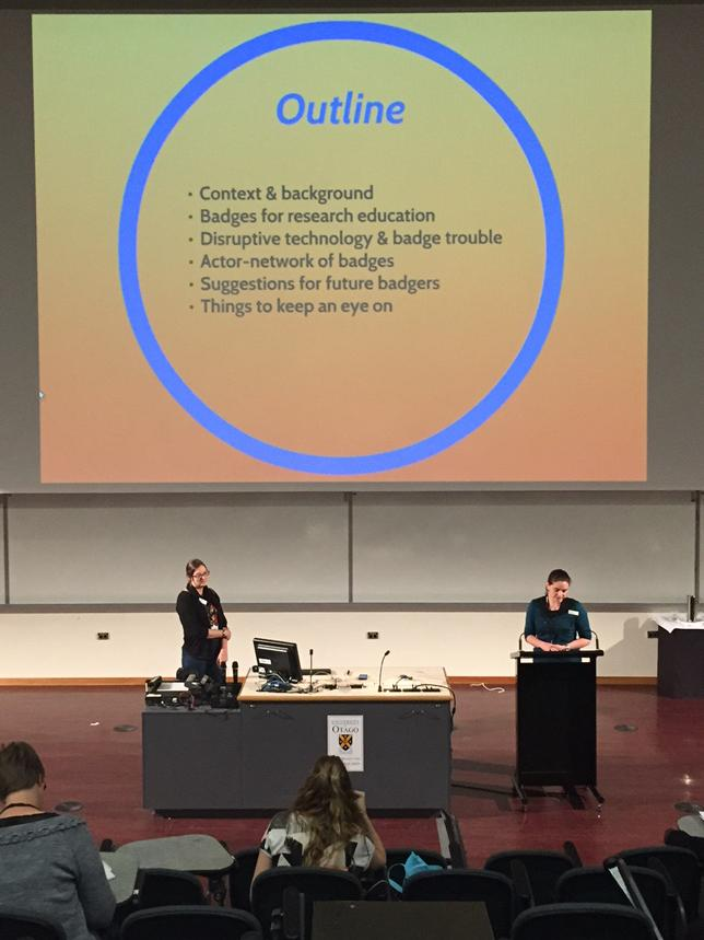 Badges and actor-network-theory. Oh the thinks you can think! #insignia #openbadges #ascilite2014 http://t.co/oewjhKhRmq