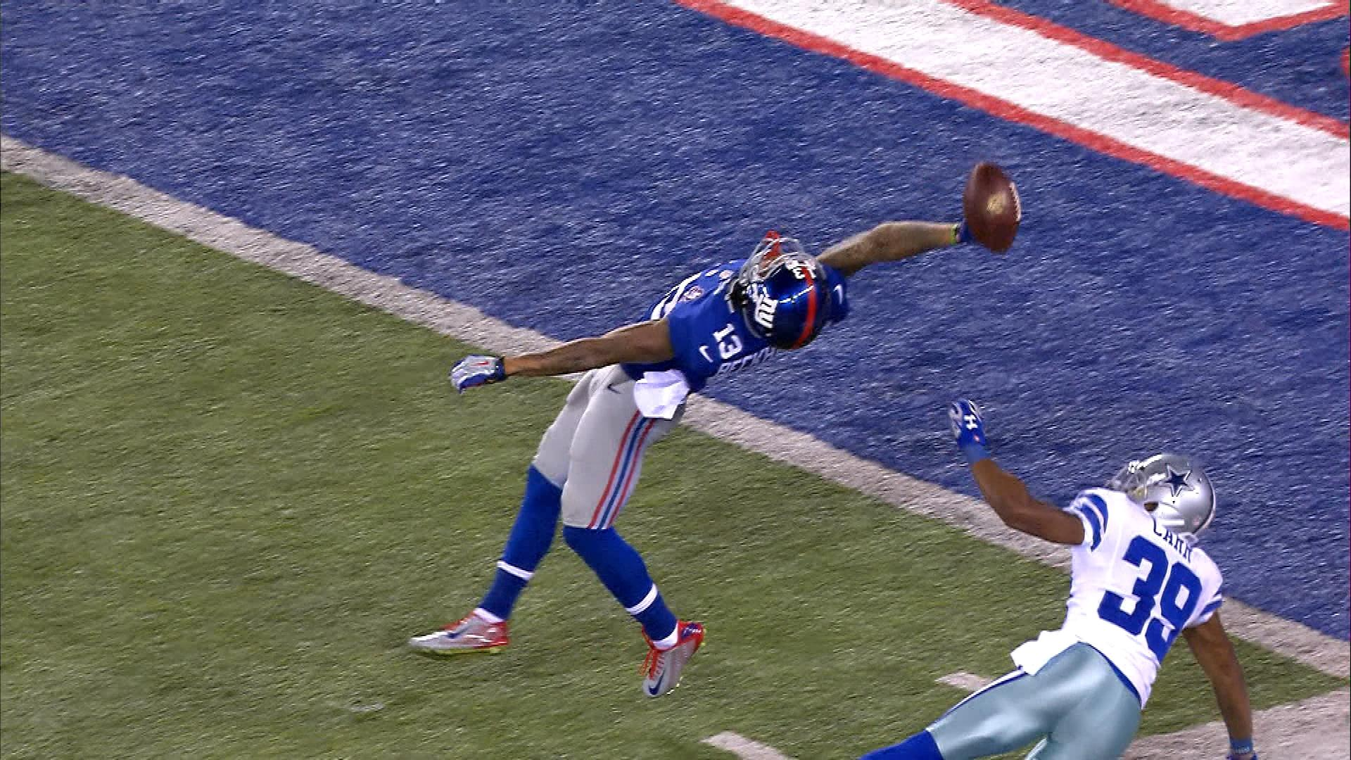 """That's up there with David tyree and lyn swan ! Epic  @NBCSports: Oh my, Odell Beckham. OBJ3 @SNFonNBC http://t.co/ovnwxpOPrG"""""""