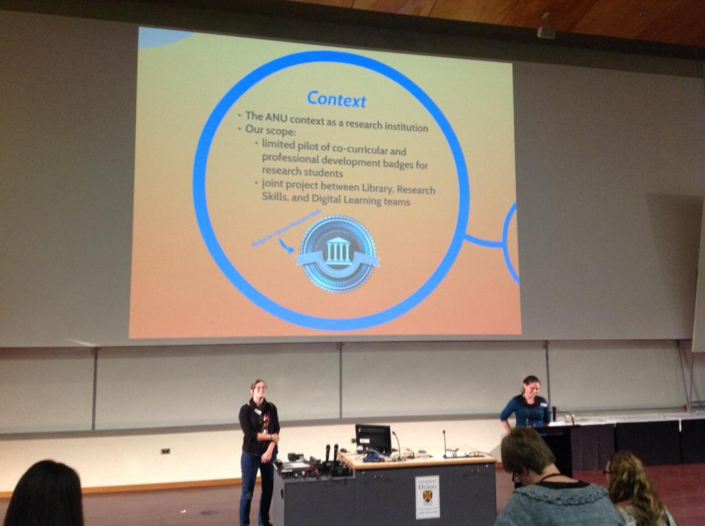 Badges are designed to be mobile, which is a problem for institutions with closed LMSes #ascilite2014 #insgnia http://t.co/WRTVoOWQZo