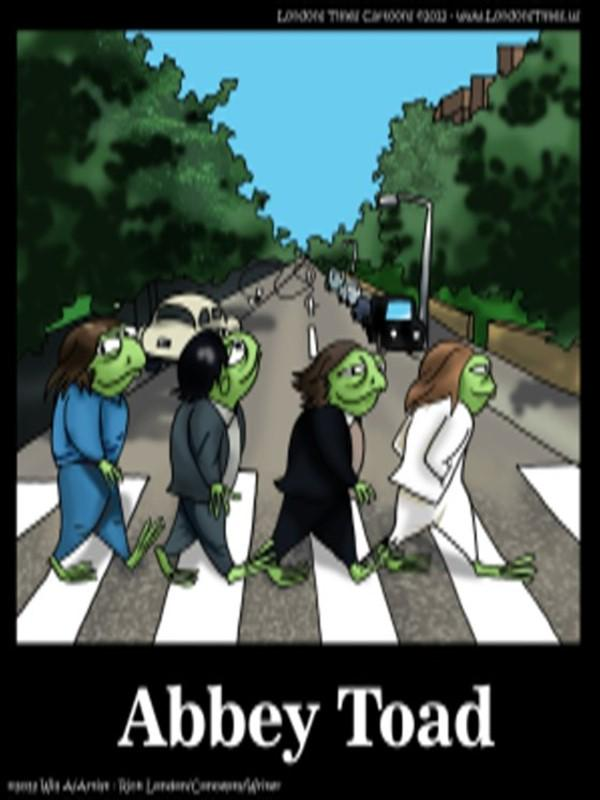Abbey #Toad by @LTCartoons #frogs #beatles #thebeatles #parody #cartoons #humor #funny #music #abbeyroad #bizarre