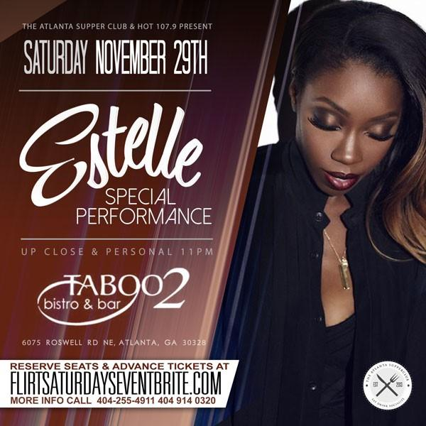 Atlanta: Join me this Saturday, 11/29 for a special performance! Tickets: http://t.co/EWTx4eXI79 @Taboo2Bistro http://t.co/6lwYFyxg6z