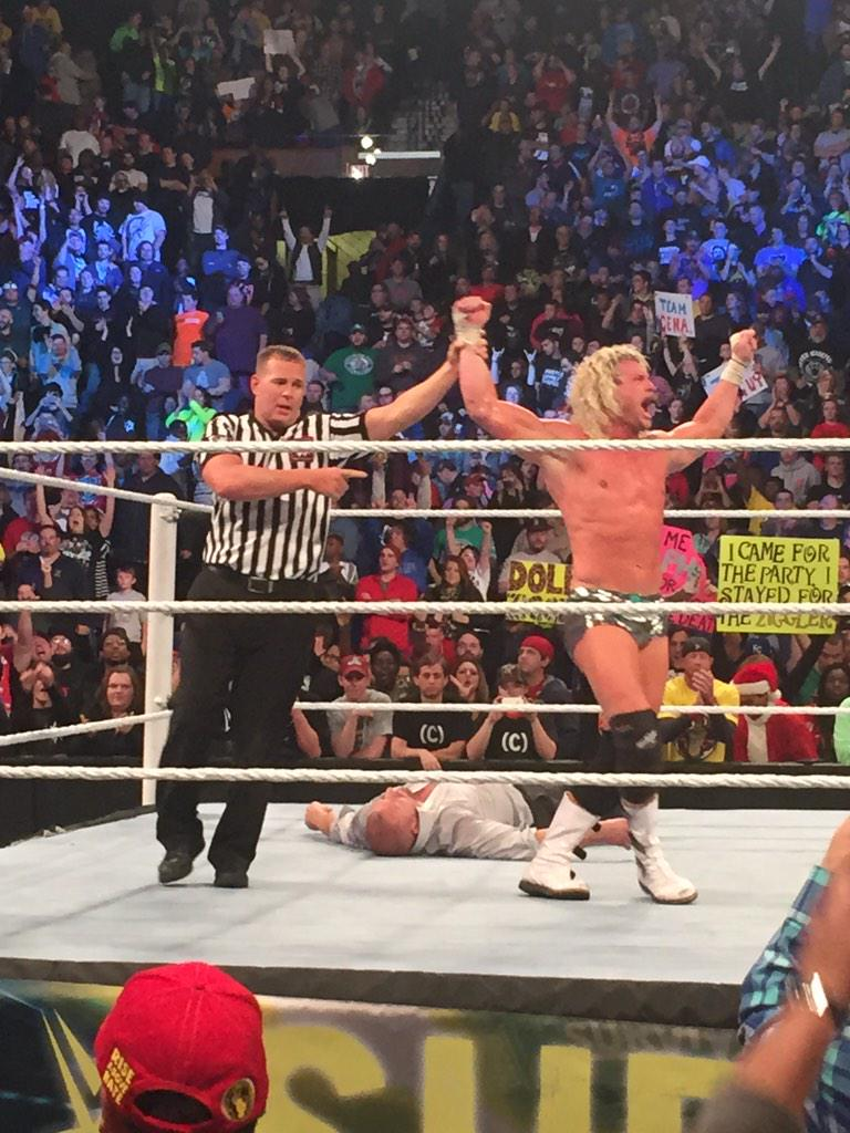 @HEELZiggler wins it for Team Cena.  #SurvivorSeries http://t.co/P4ggxHF7MX