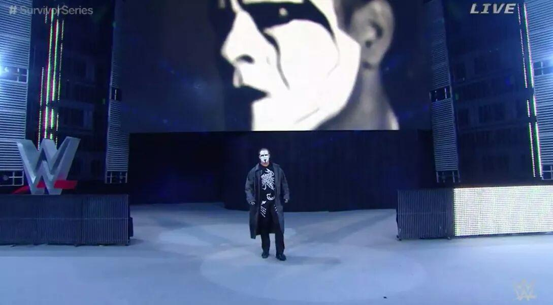 The franchise of wcw debuts in wwe #Sting @Sting impact made #teamcena wins @HEELZiggler great match. http://t.co/Y6cV3vaXOs