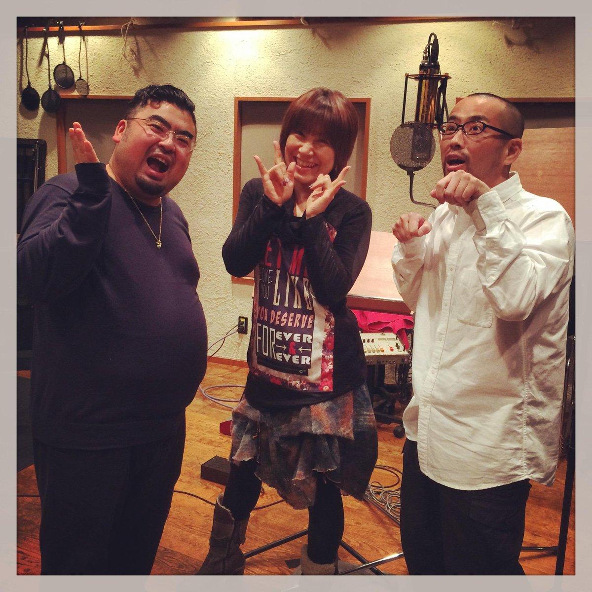 今日は来月プレミア公開予定の映画「生まれ変わりの村」の主題歌レコーディング。歌い手は超素敵な歌姫、松本梨香さん! @rica_matsumoto3 盟友きくっちゃん @kickchi_yu と共に歌声に酔いしれました。 http://t.co/HRexYkhDUb