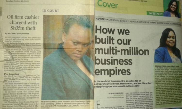She stole Sh 35m 6 years ago. The same newspaper today fools us with her 'business skills'. LOL #Magazetini http://t.co/IaPNavIncu